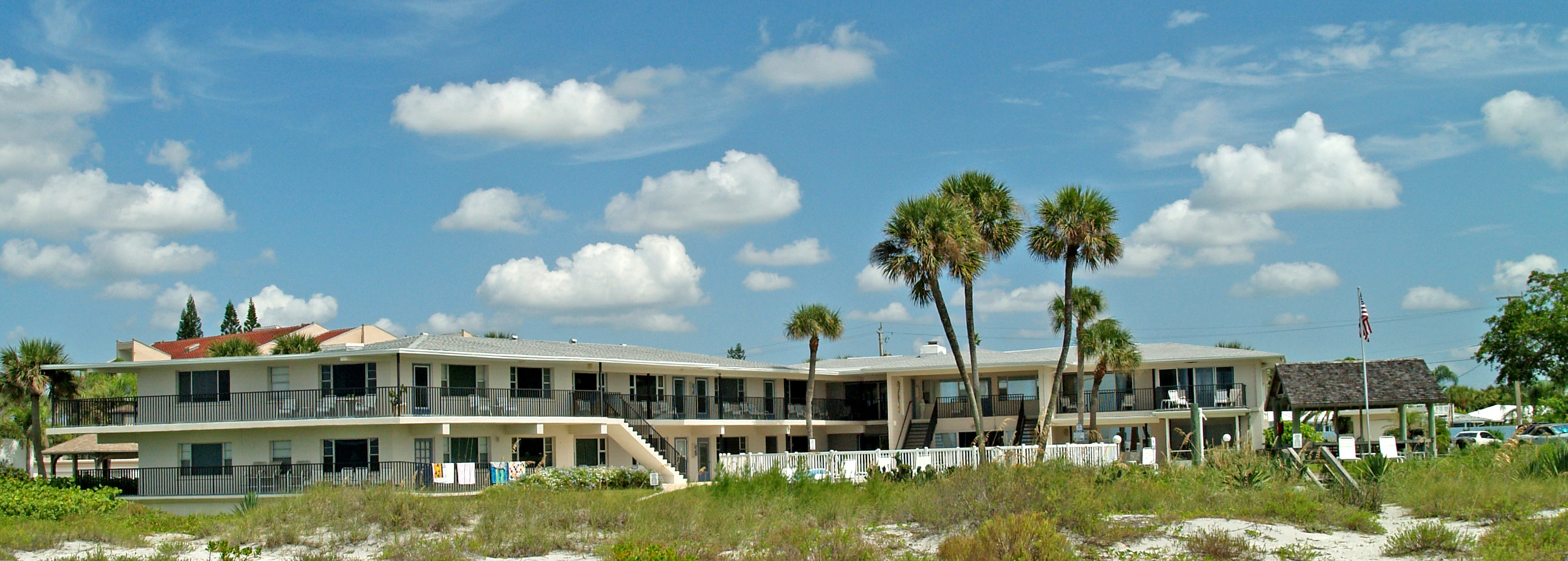 Beachcomber In Venice Fl viewed from the Private Gulf of Mexico Beachfront